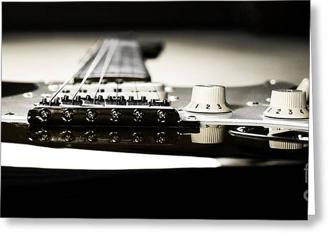 Musicans Greeting Cards - Play the guitar Greeting Card by Jana Behr