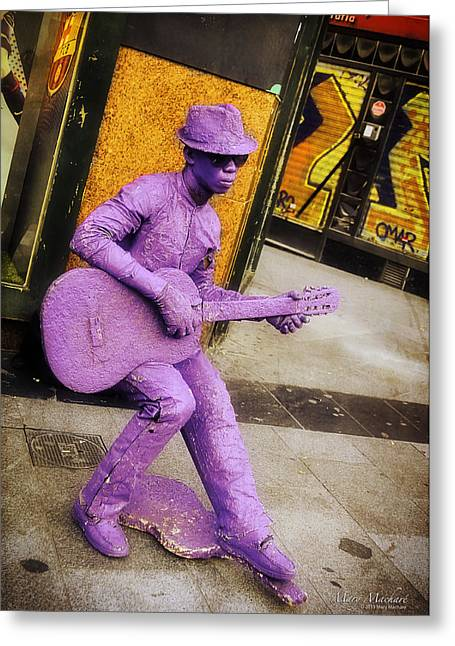 Play The Music - Madrid Greeting Card by Mary Machare
