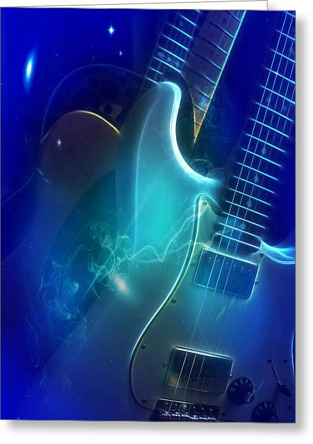 Play Them Blues Greeting Card