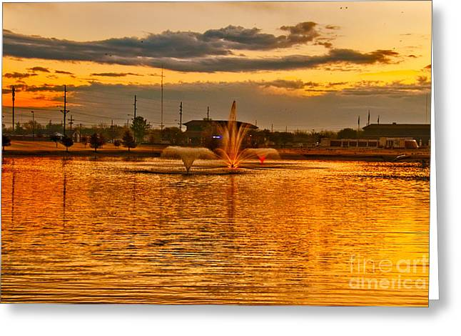 Greeting Card featuring the photograph Playa Lake At Sunset by Mae Wertz