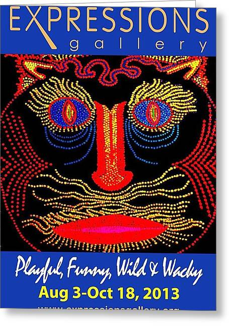 Playful Funny Wild And Wacky  Greeting Card by John Mallon