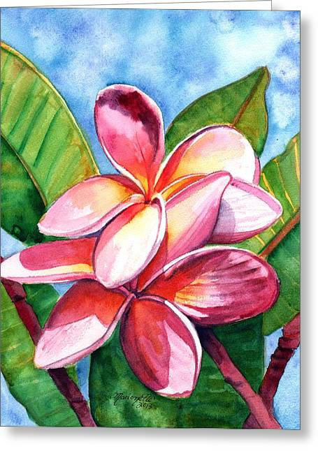 Playful Plumeria Greeting Card