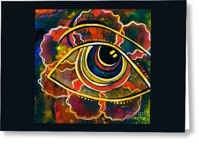 Greeting Card featuring the painting Playful Spirit Eye by Deborha Kerr