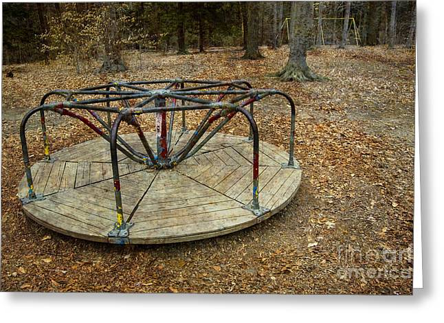 Playground In The Woods Greeting Card