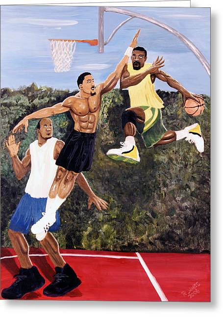 Playground Greeting Card by Roger  James