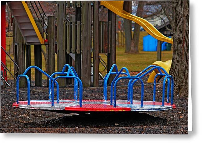 Playground Greeting Card by Rowana Ray