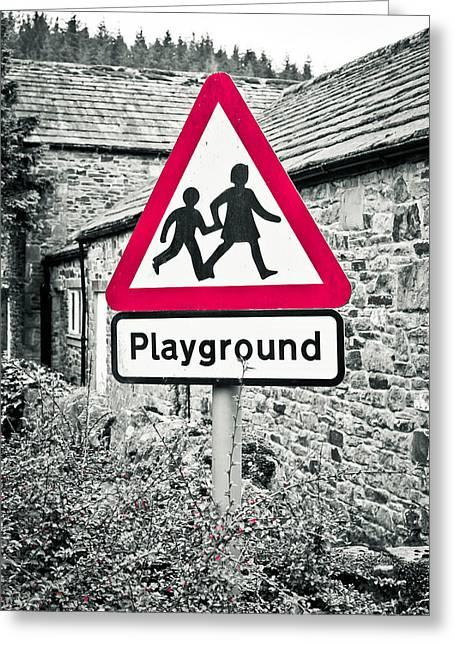 Playground Greeting Card by Tom Gowanlock