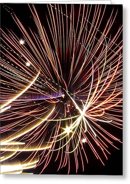 Playin With Fireworks Greeting Card by Michael Nowotny