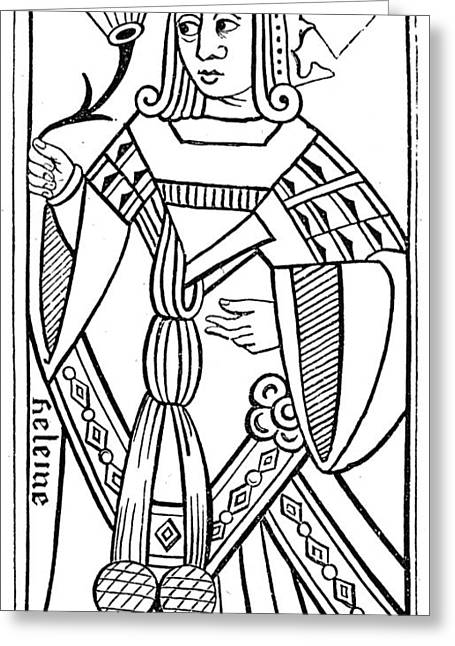 Playing Card, 16th Century Greeting Card by Granger