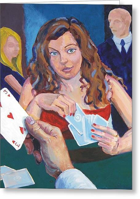 Playing Cards Greeting Card by Mike Jory