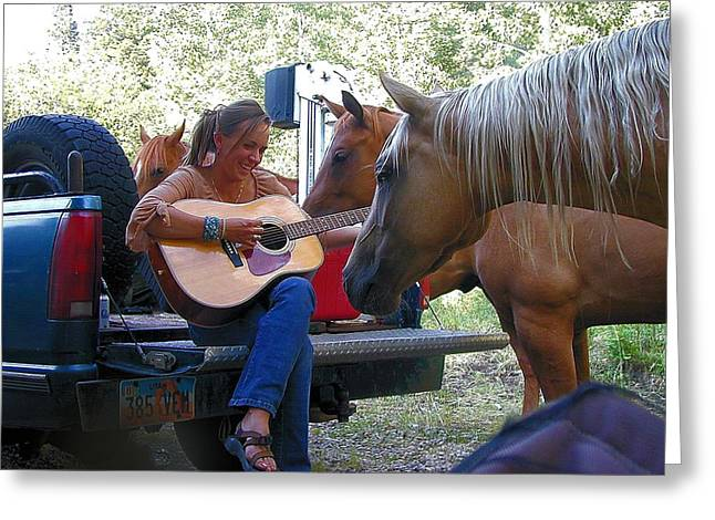 Playing For The Herd Greeting Card