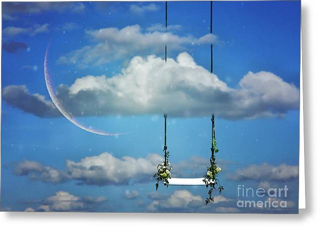 Playing In The Clouds Greeting Card