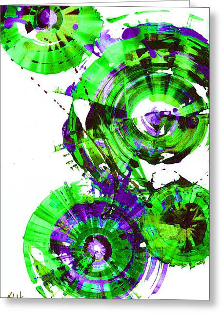 Playing In The Wind 1000.042312 - Popart-2 Greeting Card by Kris Haas