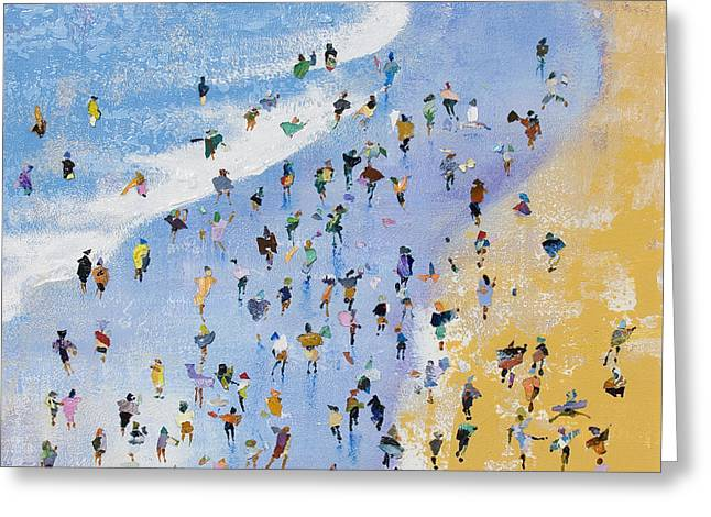 Playing On The Shoreline Greeting Card by Neil McBride