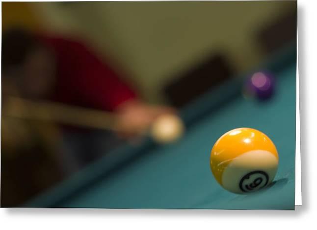 Playing Pool Greeting Card by Ioan Panaite