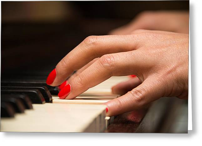 Playing The Piano Greeting Card by Dutourdumonde Photography
