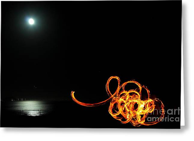 Playing With Fire 1 Greeting Card by Theresa Ramos-DuVon