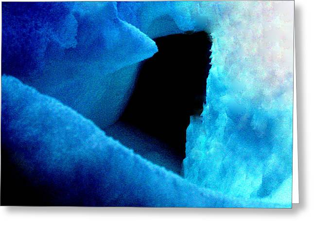 Playing With The Snow And Ice Kappl Mountain Austria  Greeting Card by Colette V Hera  Guggenheim
