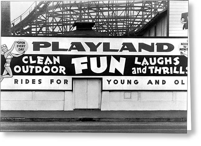 Playland At The Beach Greeting Card by Underwood Archives
