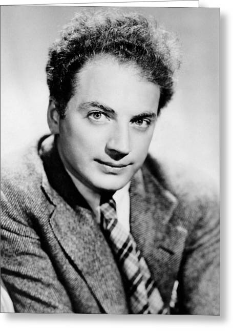 Playwright Clifford Odets Greeting Card by Underwood Archives