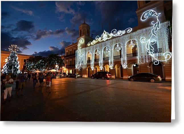 Plaza De Armas 6 Greeting Card by Ricardo J Ruiz de Porras