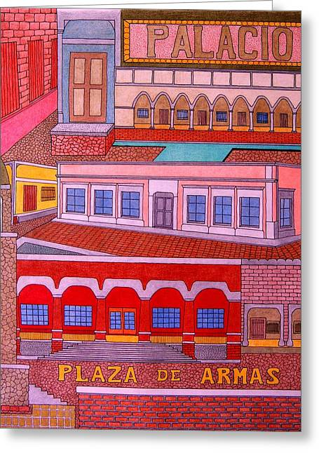 Plaza De Armas Greeting Card