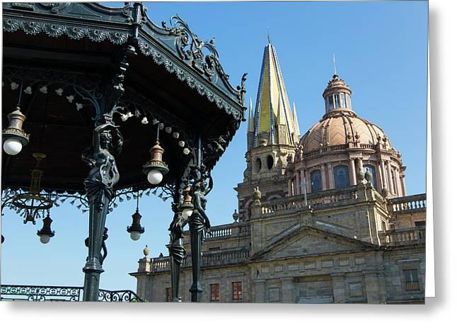 Plaza De Armas, Guadalajara, Jalisco Greeting Card by Douglas Peebles