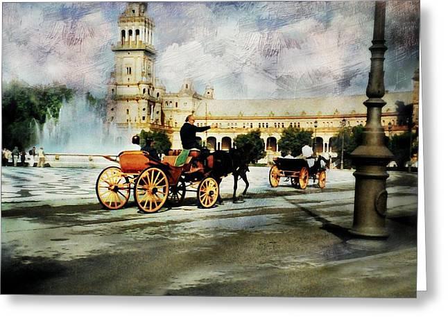 Plaza De Espana Square Greeting Card