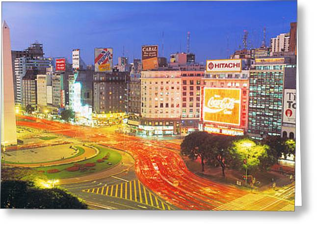 Plaza De La Republica, Buenos Aires Greeting Card by Panoramic Images