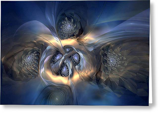 Greeting Card featuring the digital art Pleasant Effusion by Casey Kotas