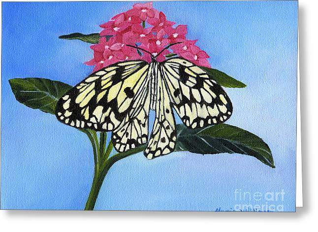 Pleasant Sighting Greeting Card by Maria Williams