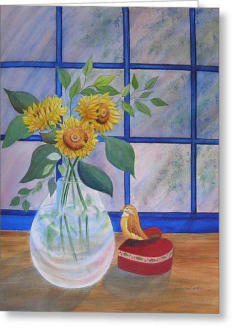 Pleasant Surprise Greeting Card by Laura Nance