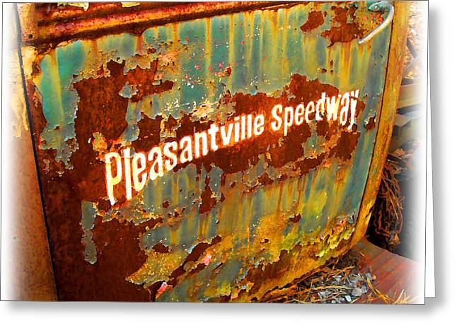Pleasantville Speedway Greeting Card