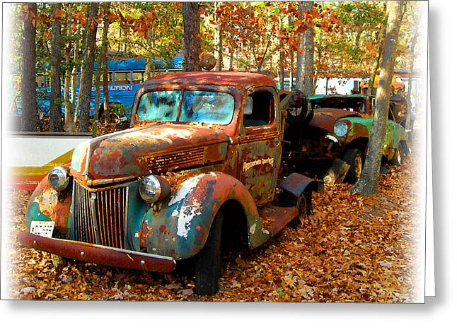 Pleasantville Speedway Tow Truck Greeting Card