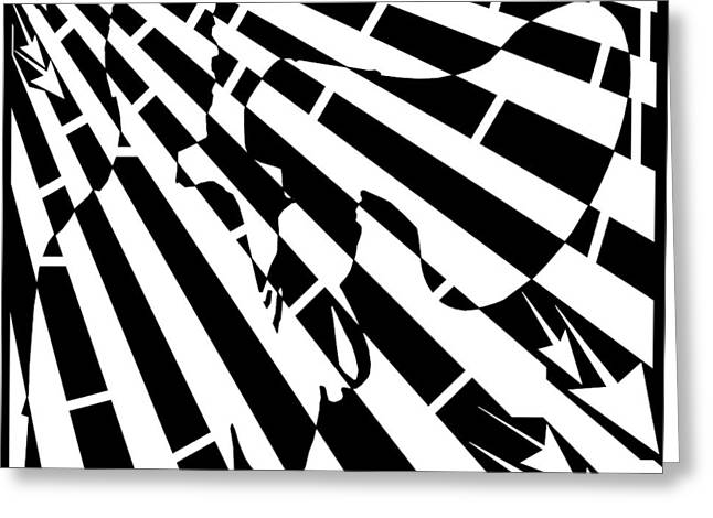 Please Step Away Maze  Greeting Card by Yonatan Frimer Maze Artist