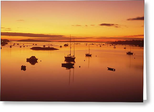 Pleasure Boats Moored In Southwest Greeting Card