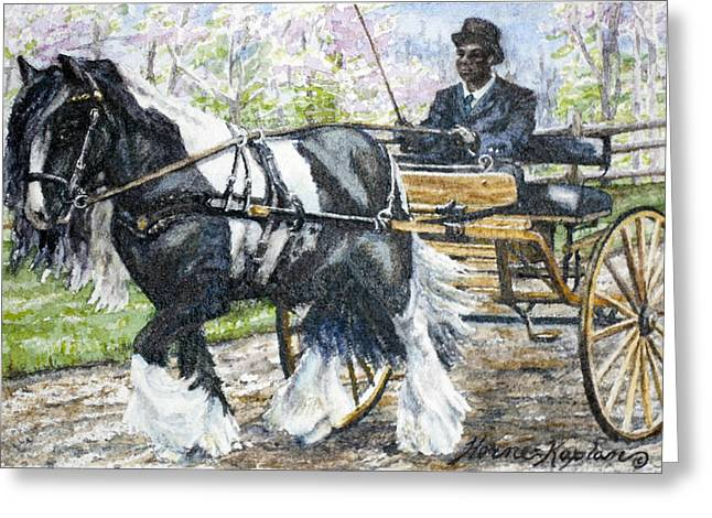 Pleasure Driving Greeting Card by Denise Horne-Kaplan