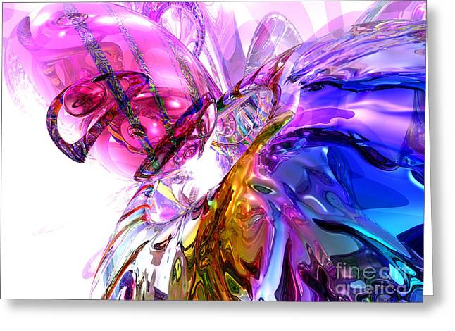 Pleasure Paradox Abstract Greeting Card by Alexander Butler