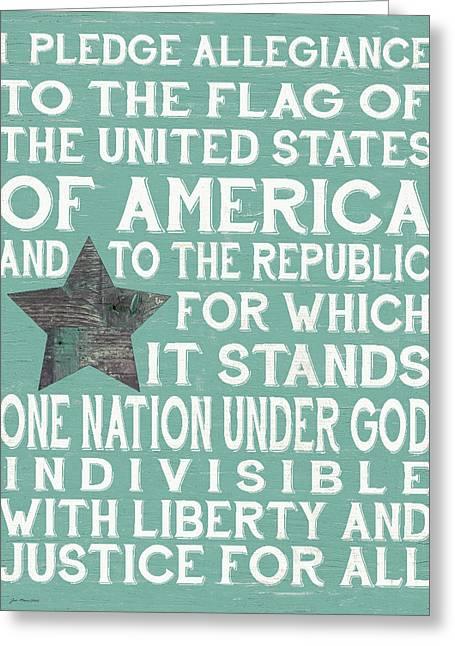 Pledge I Greeting Card