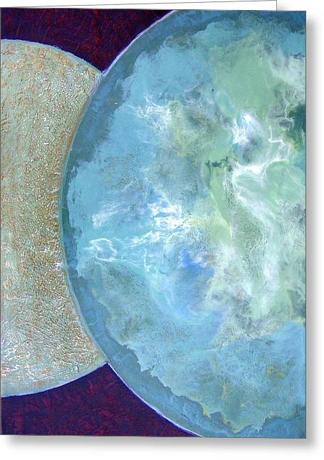 Pleiades Meditation Greeting Card by Carolyn Goodridge