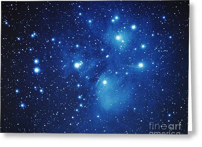 Pleiades Star Cluster Greeting Card by Jason Ware