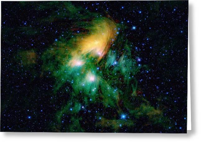 Pleiades Star Cluster Greeting Card