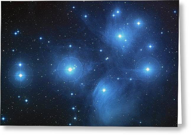 Greeting Card featuring the photograph Pleiades - Star System by Absinthe Art By Michelle LeAnn Scott