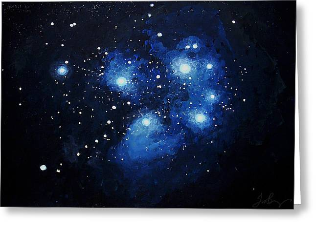 Pleiades The Seven Sisters Greeting Card