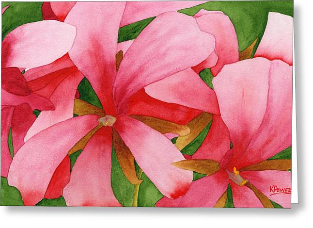 Greeting Card featuring the painting Plein Air Flowers by Ken Powers
