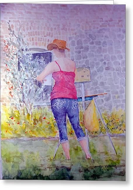 Plein Air Painter Greeting Card