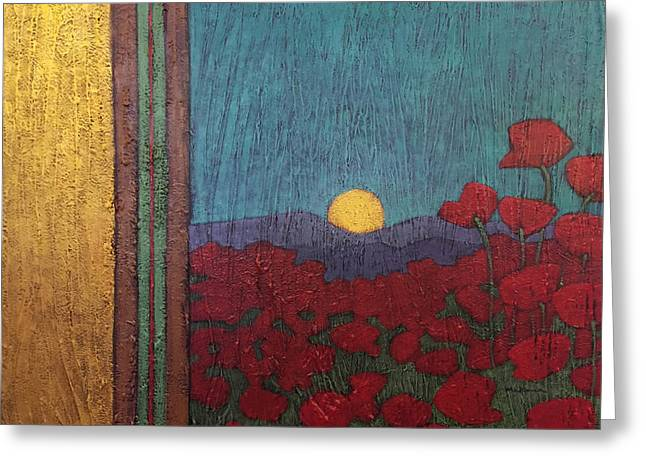 Plentiful Vista With Poppies Greeting Card