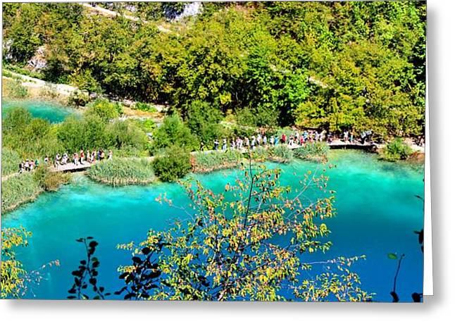 Plitvice Lakes Croatia Greeting Card