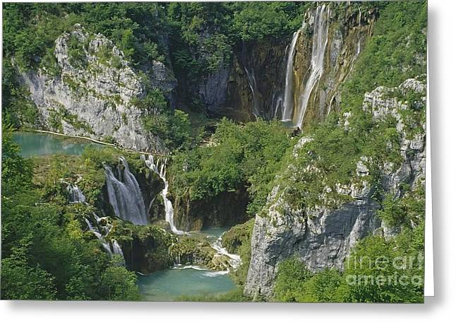 Plitvice Lakes In Croatia Greeting Card by Rudi Prott