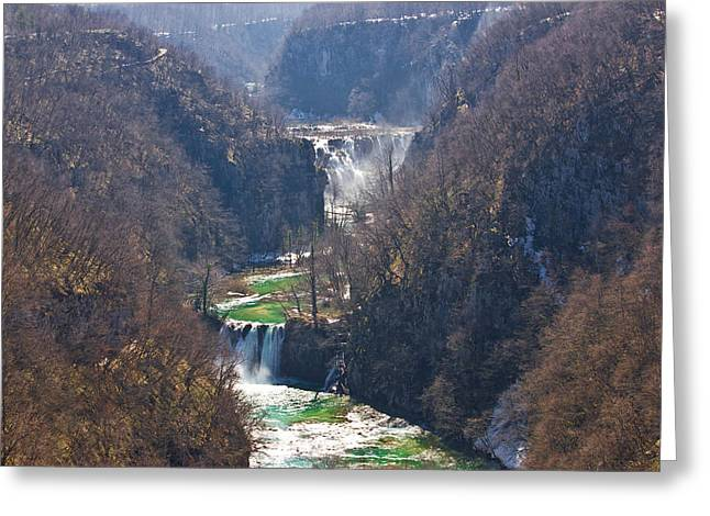 Plitvice Lakes National Park Canyon Greeting Card